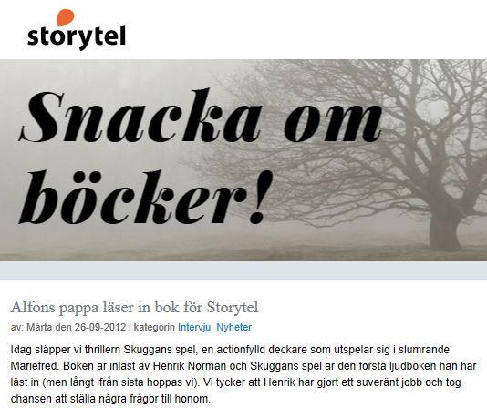 Intervju Storytel